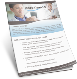 care thread solutions for healthcare product info